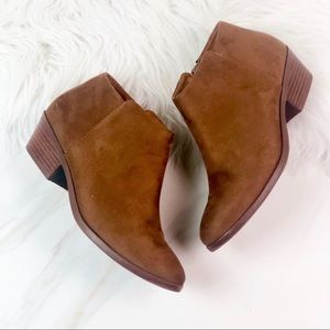 Soda Brown Ankle Booties